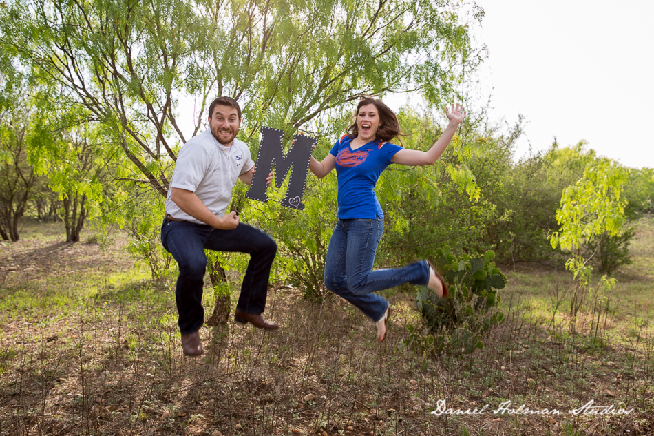 Cori and Johnathan Engagement Photography Session at Phil Hardberger Park