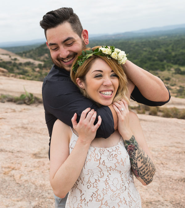 Amanda & Shaun Enchanted Rock Engagement Session